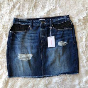 Good American Fishnet Mini Skirt